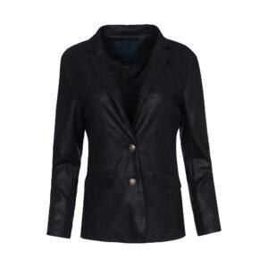 Luxzuz Maica coated suede jakke i sort