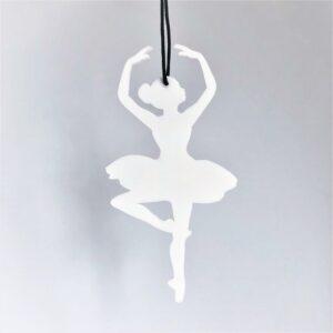 Ryborg ornament balletdanser hvid