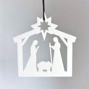 Ryborg ornament krybbespil hvid