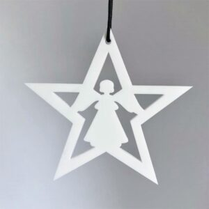 Ryborg ornament stjerne hvid