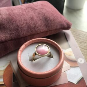 Frk Wolff moon ring rosa