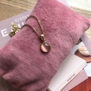 Frk Wolff moon halskæde rosa