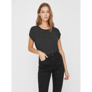 Vero moda Ava t-shirt sort/hvid strib
