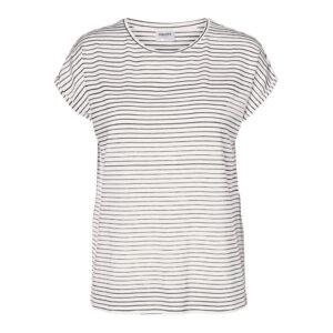 Vero moda Ava t-shirt hvid/sort strib