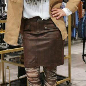 Luxzuz Heather nederdel coated brun