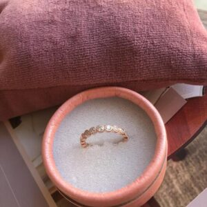 Frk Wolff Simple stone ring rosaguld