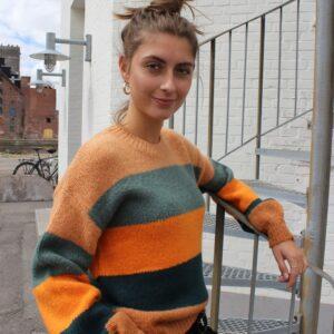 Liberté Bobbi strik Grøn/orange