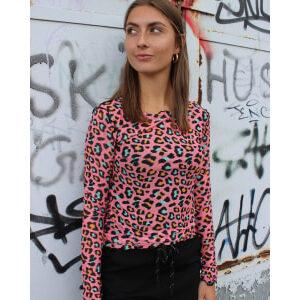 Liberte Mesh top pink leo