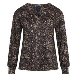 Luxzuz Vikarin t-shirt mørk leopard
