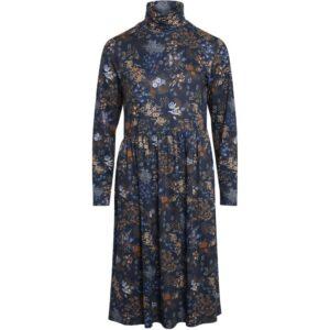 Luxzuz Sebrine kjole mørkeblå med blomster