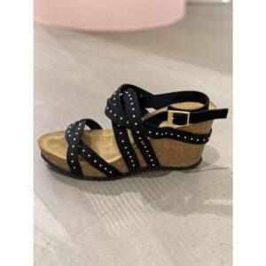 """Copenhagen shoes """"Pleasure"""" sandaler Black nubuch/leather"""
