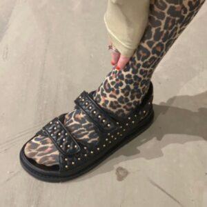 """Copenhagen Shoes sandaler """"Studs on"""" sorte med nitter"""