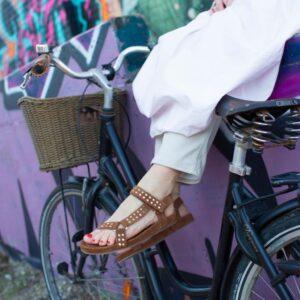 """Copenhagen shoes """"Sweat"""" sandal Cognac suede"""
