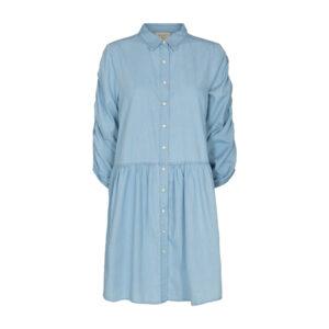 Freequent Dobby kjole denim