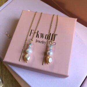 Frk Wolff Color Pearl øreringe sølv