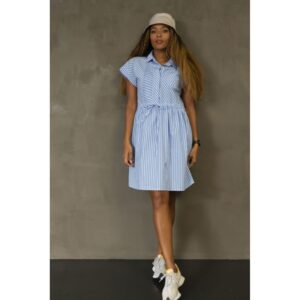 Luxzuz Betzy kjole blå stribet