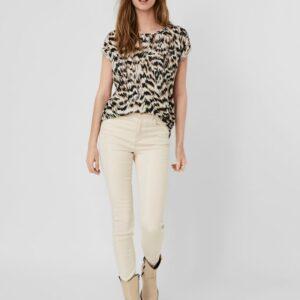 Vero moda ava t-shirt birch/mille