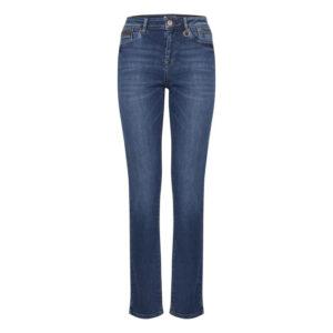 Pulz Emma jeans straight medium blue