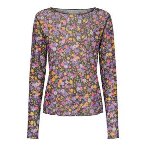 Liberte mesh bluse blomster print