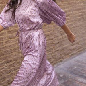 Sisters Point Ventia kjole rosa/brun