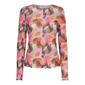 Liberte mesh bluse dot flower